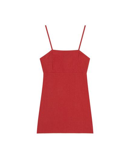 Mini dress with thin straps