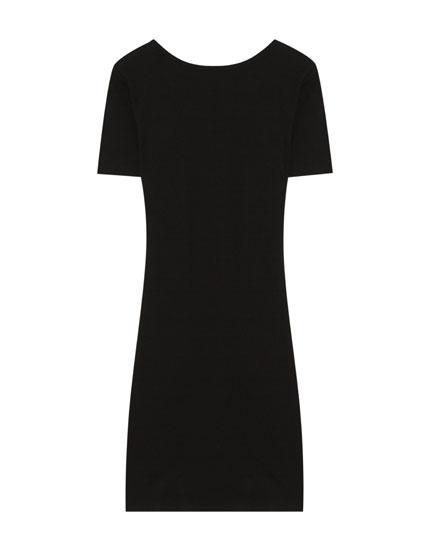 Κοντομάνικο μίνι φόρεμα ριπ