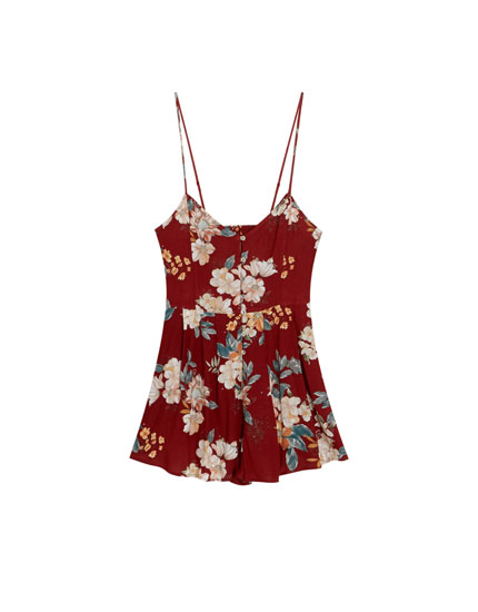 Short floral jumpsuit