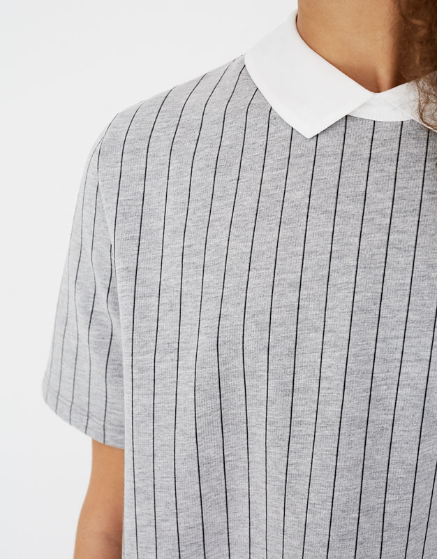 Robe chemise pull and bear