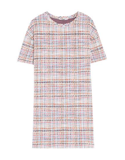 Multicoloured knit dress