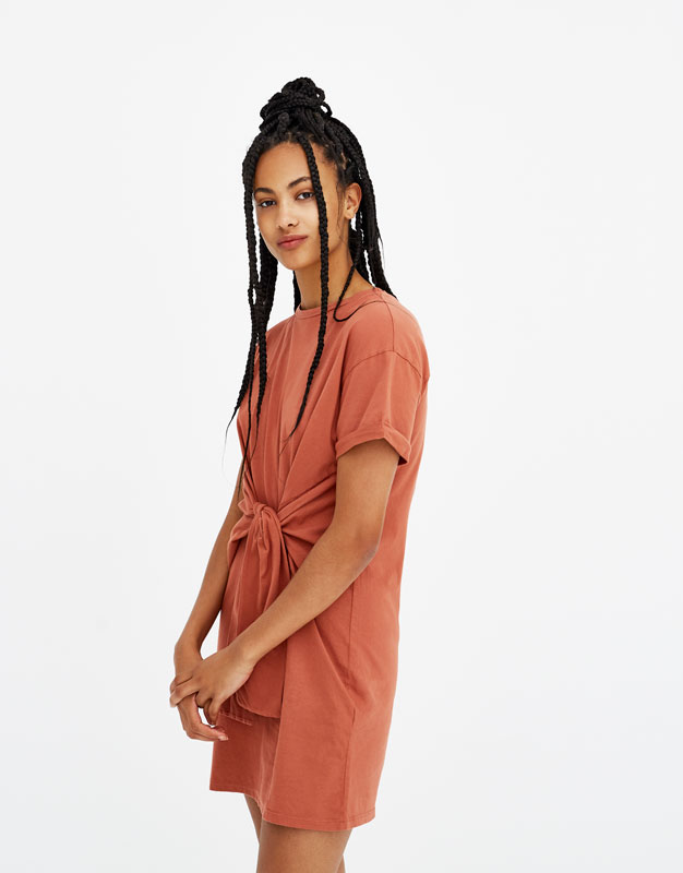Robe nouée coton organique