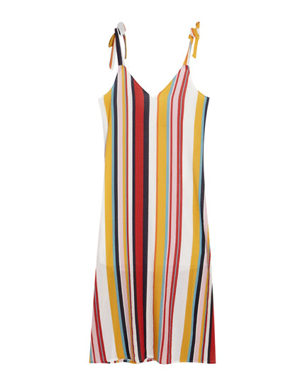 Long striped tank dress