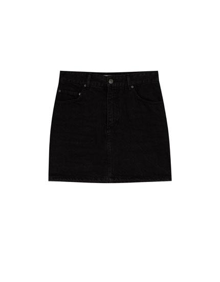 Minifalda denim ajustada