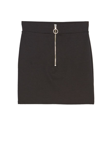 Mini skirt with zip