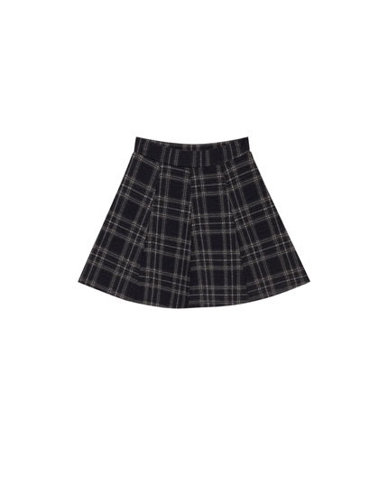 Checked skater skirt