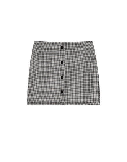 Mini skirt with front buttons