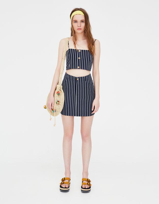 Minifalda Recta Twin Set Faldas Ropa Mujer Pull Bear Islas