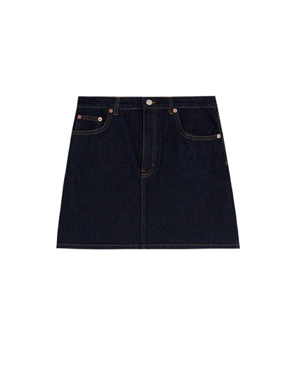 Minifaldilla denim unwashed