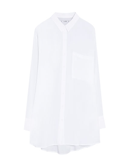 Camisa de manga comprida oversize