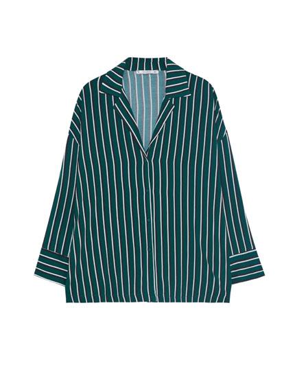 Camisa cuello solapa rayas