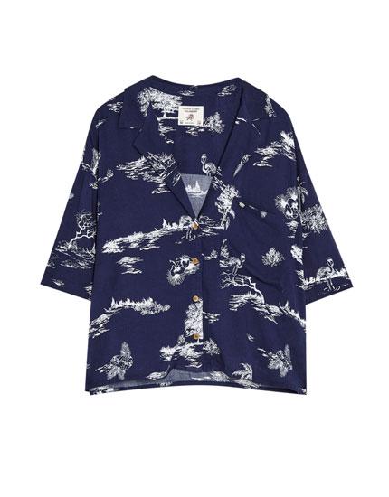 Short sleeve Hawaiian shirt