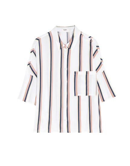 Chemise rayée à manches courtes