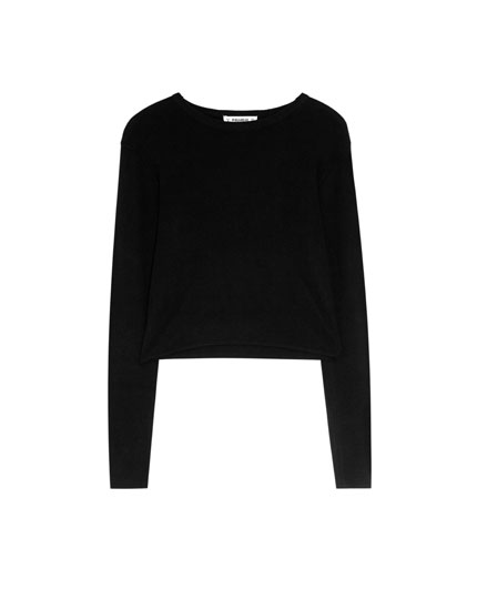 Pull cropped rayures