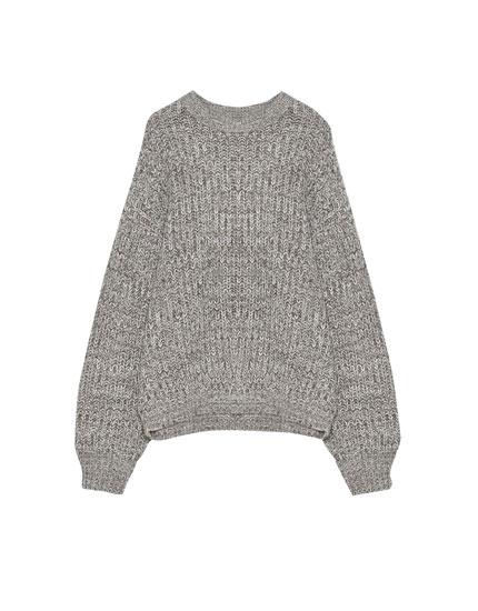 Boyfriend-Pullover mit Fledermausärmeln