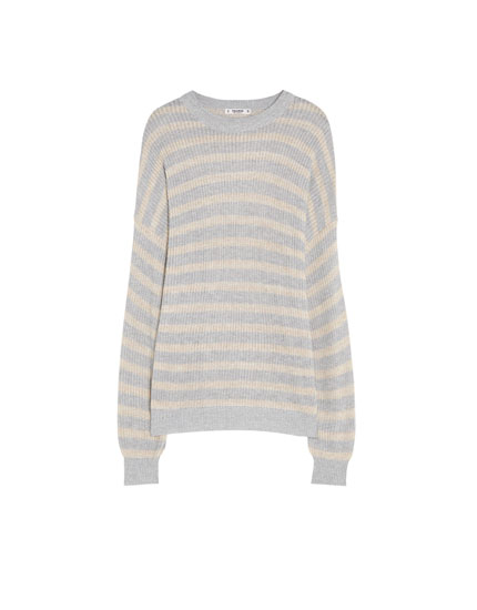Sweater i perlestrik