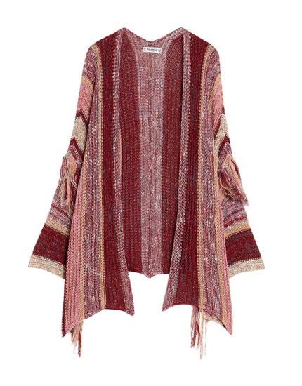 Chaqueta-kimono flecos