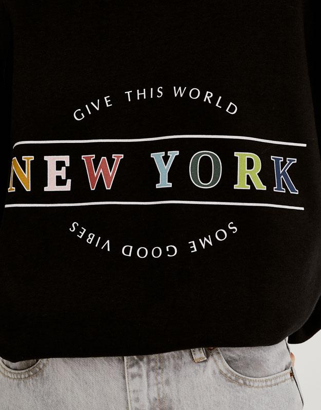 Colourful text sweatshirt