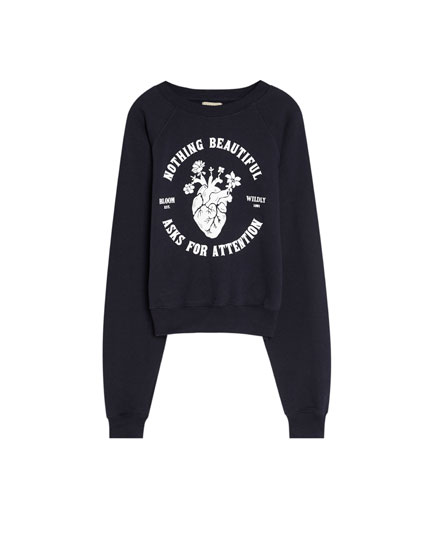 Sweatshirt with a heart print