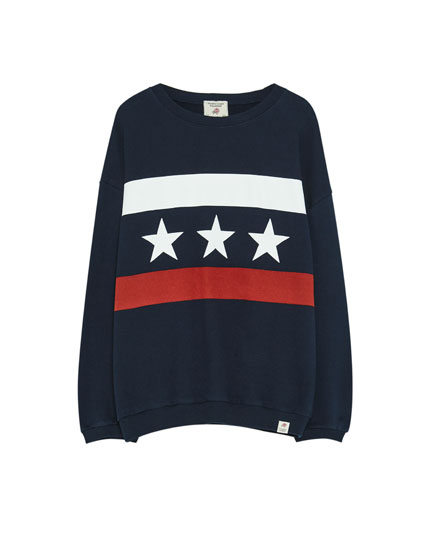 Star flag sweatshirt