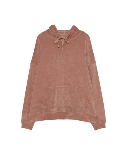 Sweat velours capuche
