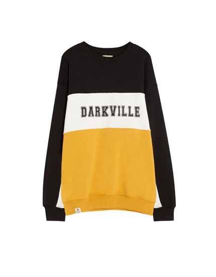 Darkville colour block sweatshirt