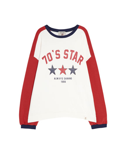 Join Life 70's star sweatshirt
