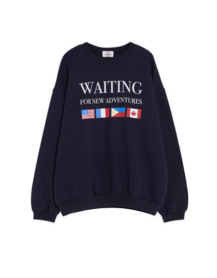 Sweatshirt with flags