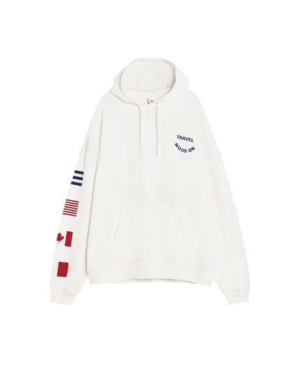 Hoodie with flags
