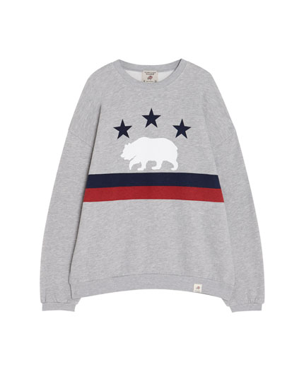 Join Life bear flag sweatshirt