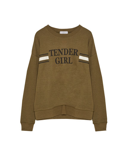 'Tender girl' slogan sweatshirt