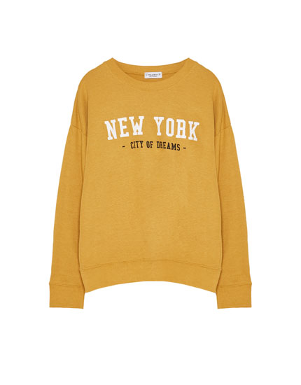 'New York' slogan sweatshirt
