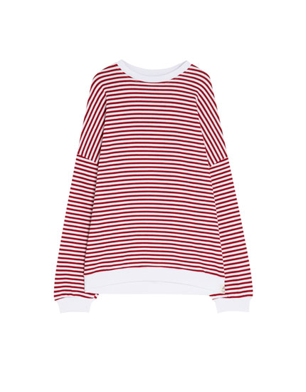 Striped sweatshirt with contrasting details