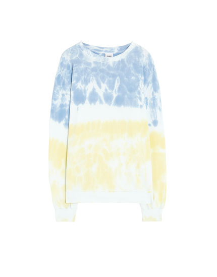 Two-tone tie-dye sweatshirt
