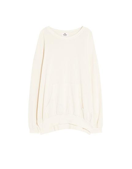 Sweatshirt bolso canguru algodão orgânico
