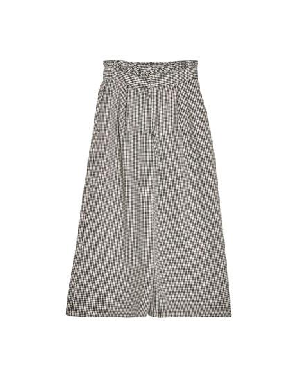 Pantalón culotte pata de gallo