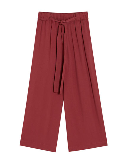 Basic culotte trousers