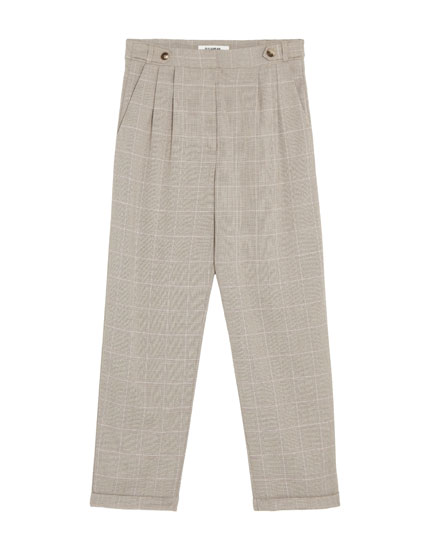 Tailored trousers with double darts