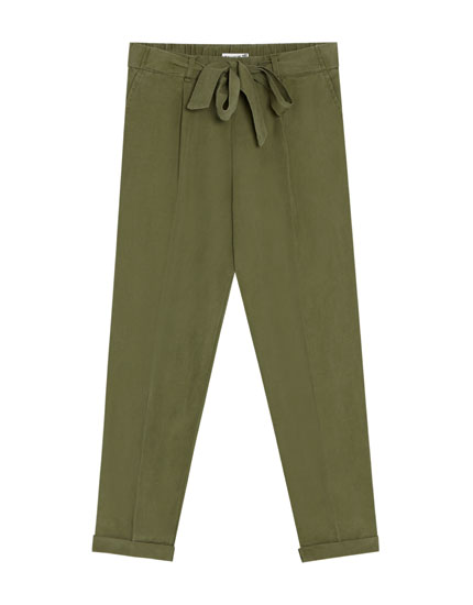 Linen jogging trousers