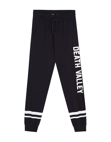 Pantalon jogging inscription