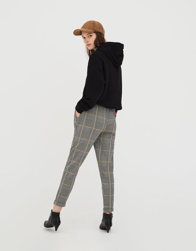 Pull&Bear Pantalon tailoring cha?ne Achats En Ligne D'origine C5C4i7DXcd