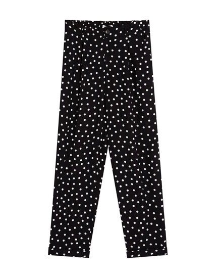 Tailored polka dot trousers