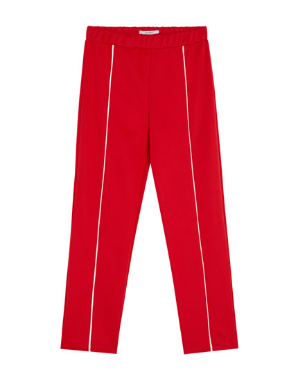 Jogging trousers with stripe detail