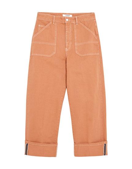 Orange Carpenter-Jeans