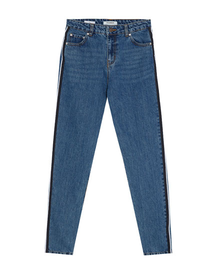 Jeans mom fit band lateral