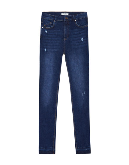 Jean skinny fit taille haute