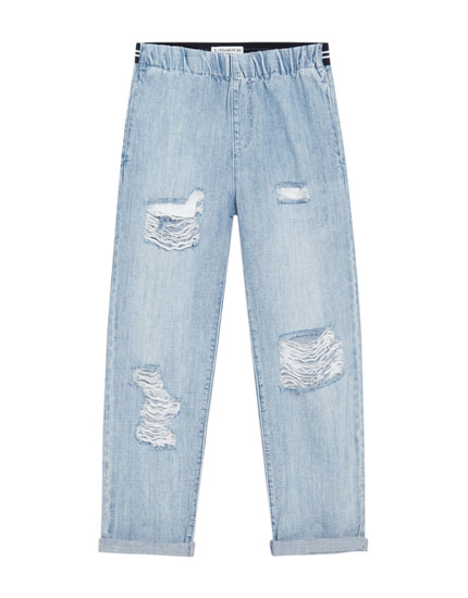Jeans baggie fit rotos