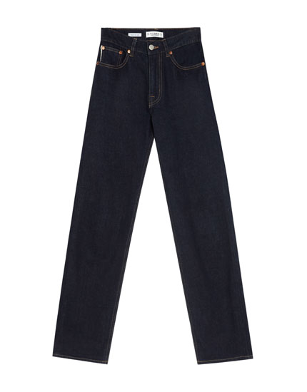 Regular fit jeans with straight hemline