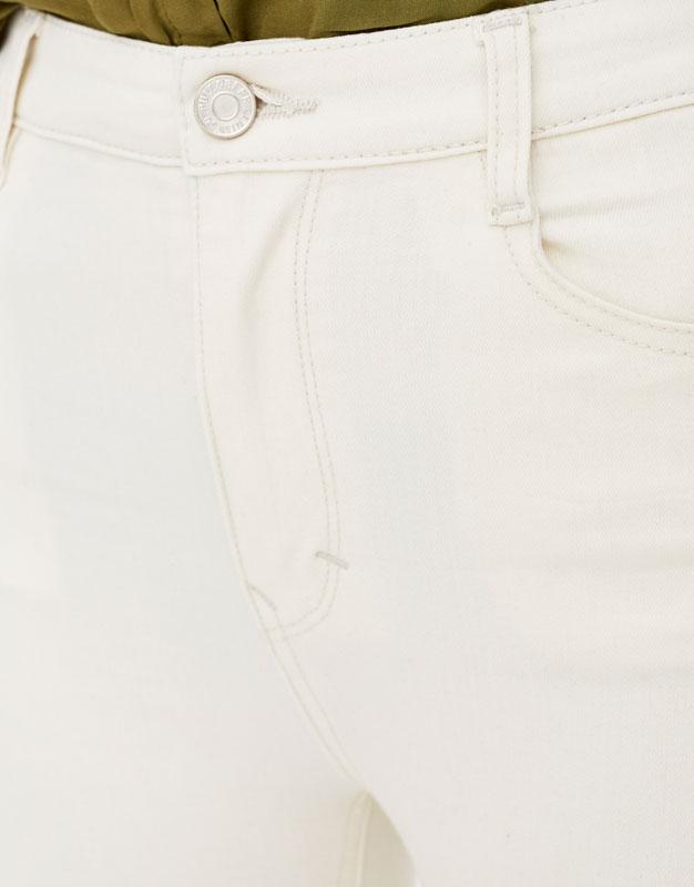 Super-Skinny-Jeans mit hohem Bund