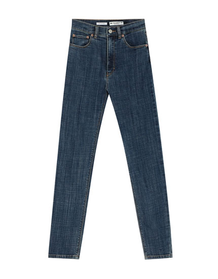 Skinny fit jeans met hoge taille, premium quality